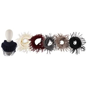 ACRYLIC INFINITY SCARF WITH FRILLS