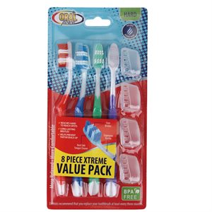 Oral Fusion Toothbrush 8PK Xtreme Hard