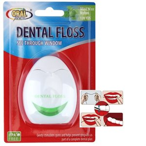 Oral Fusion Dental Floss 120yds Mint