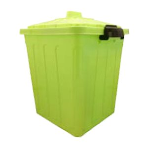 GALIWARE 30L LATCHING SQUARE WASTEBASKET + COVER ASST.